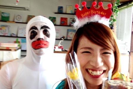 仮装メイクで誕生日にドッキリサプライズ