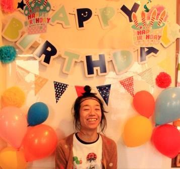 誕生日の飾り付けに風船